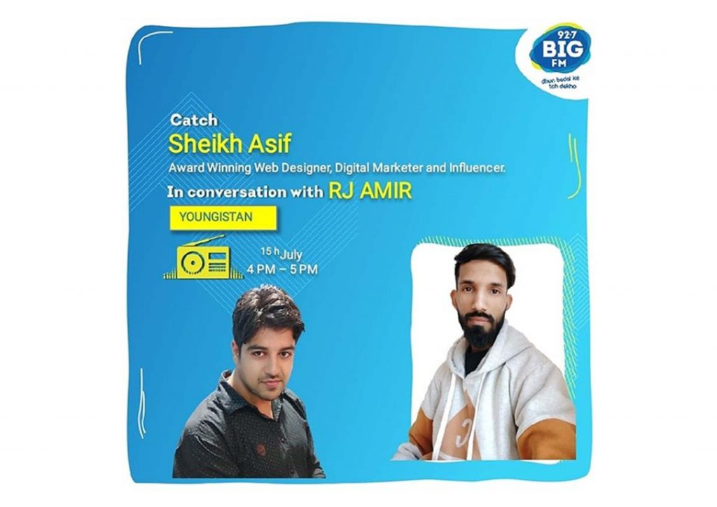 92.7 big fm Sheikh Asif