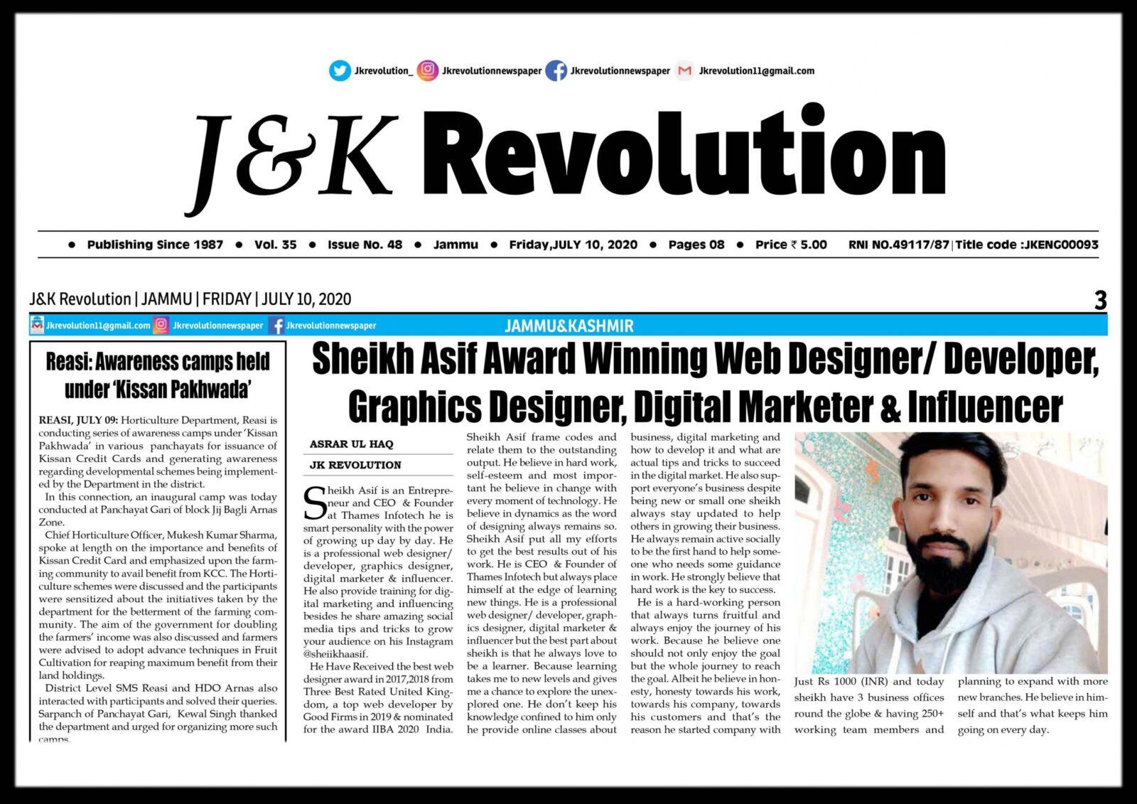 JK revolution news paper